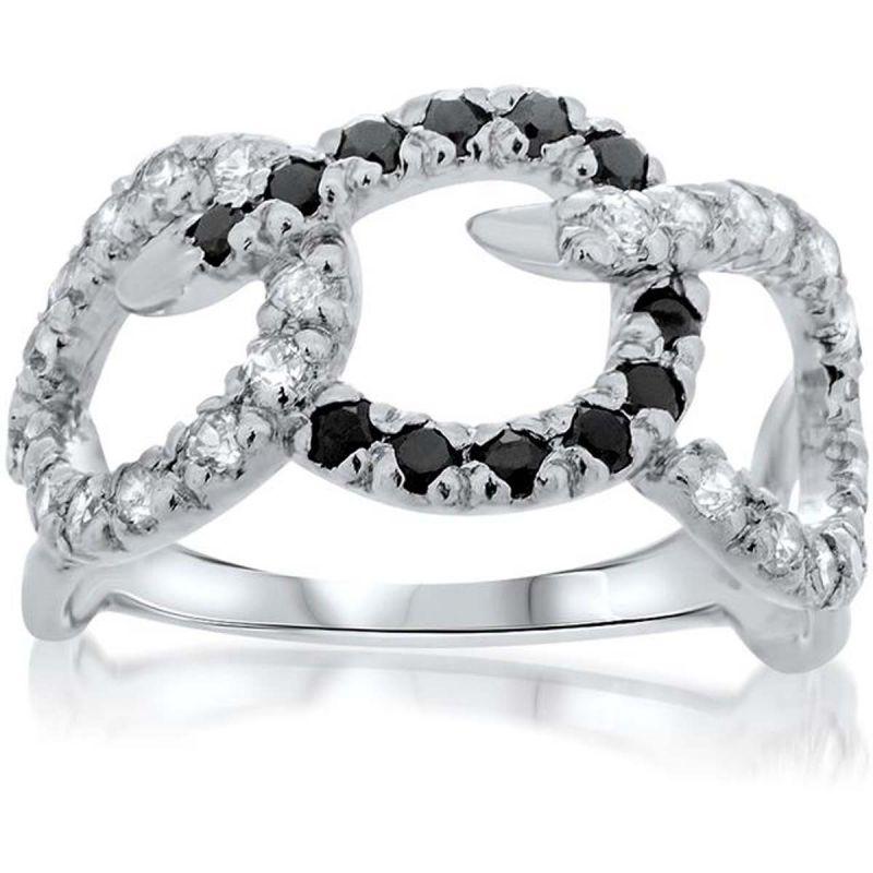 Buy Kiara Swarovski Signity Sterling Silver Poonam Ring Kir0816 online