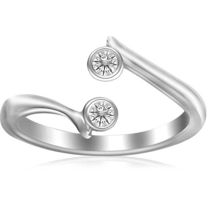 Buy Kiara Swarovski Signity Sterling Silver Shreya Ring online