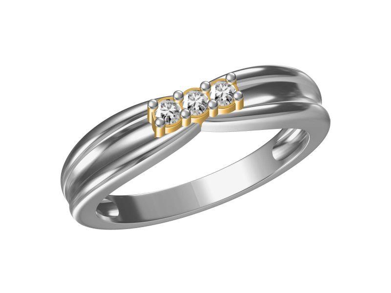 Buy Kiara Sterling Silver Komal Ring Mkgr329wt online