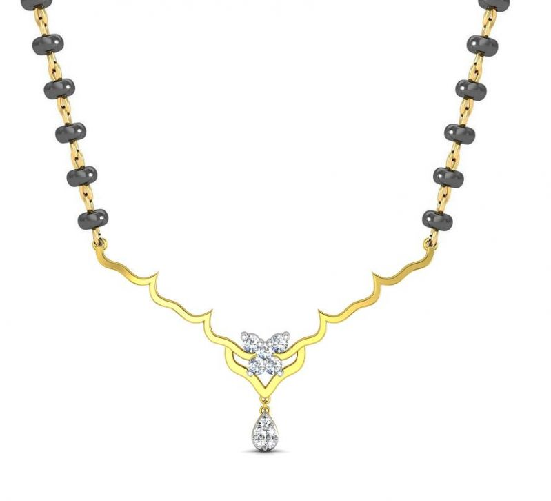 Buy Avsar Real Gold and Diamond Goa Necklece online