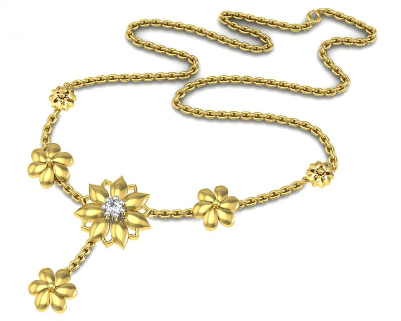 Buy Avsar Real Gold and Swarovski Stone Namrata Necklace online