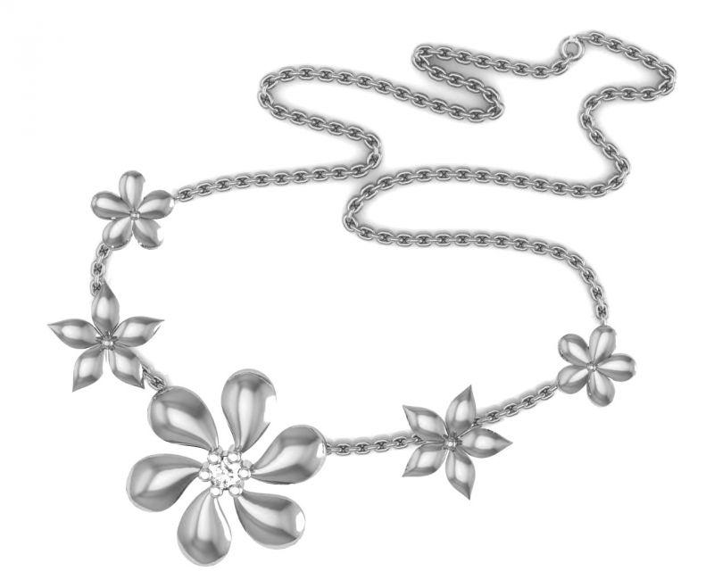 Buy Avsar Real Gold and Swarovski Stone Karishma Necklace online