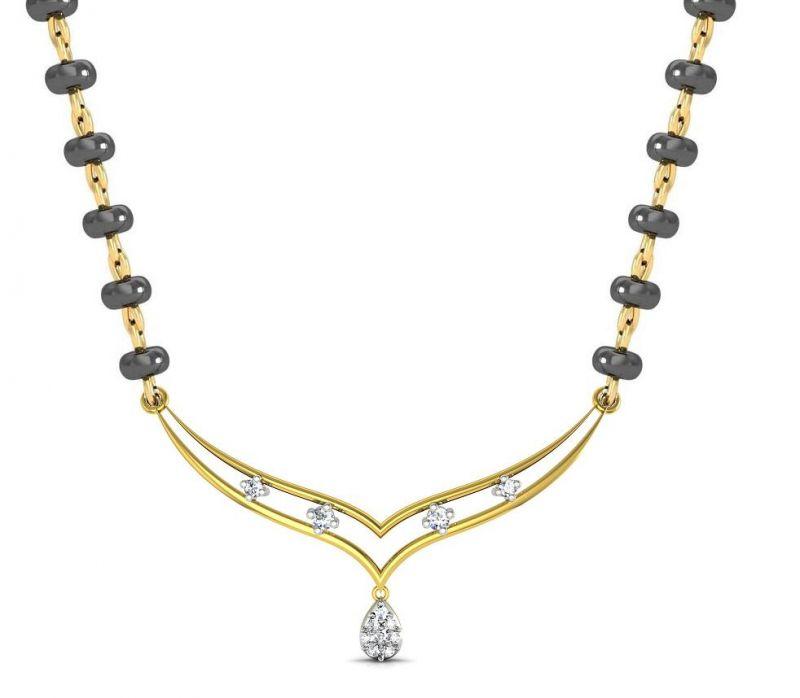 Buy Avsar Real Gold and Swarovski Stone Vidya Necklace online