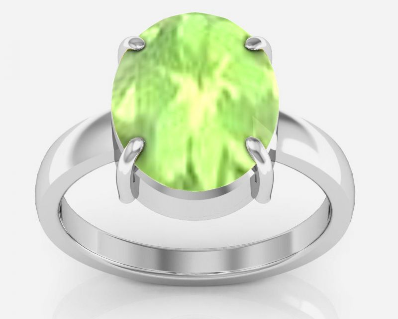 Buy Kiara Jewellery Certified Peridot 2.0 Cts Or 2.25 Ratti Peridot Ring online