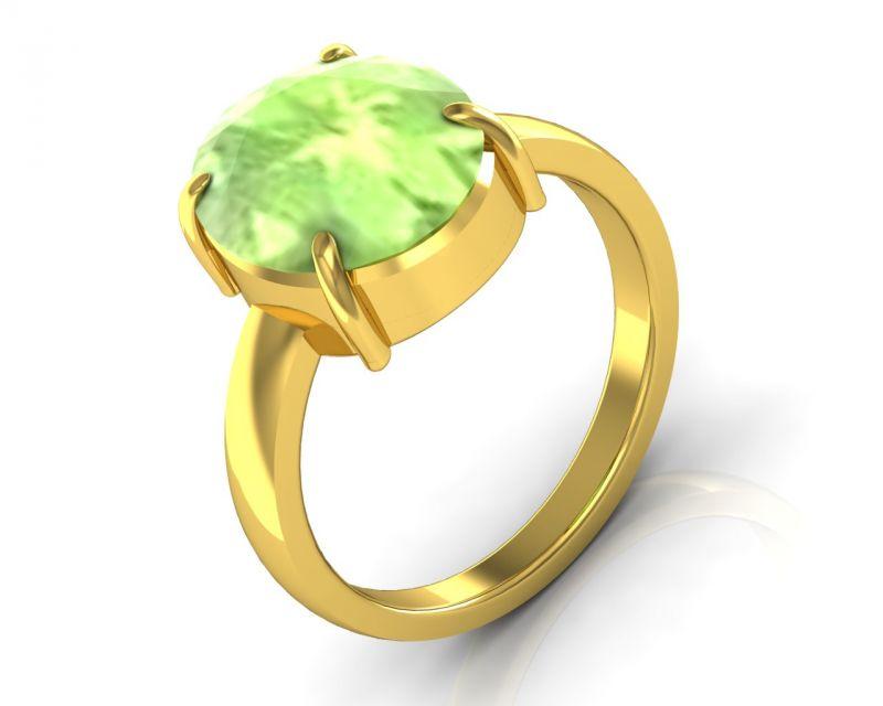 Buy Kiara Jewellery Certified Peridot 6.5 Cts Or 7.25 Ratti Peridot Ring online