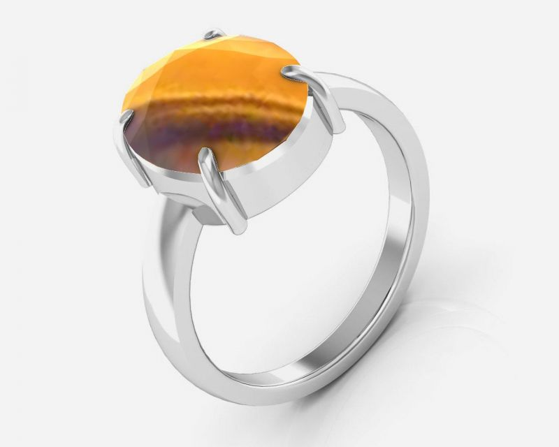 Buy Kiara Jewellery Certified Quartz 7.5 Cts Or 8.25 Ratti Quartz Ring online