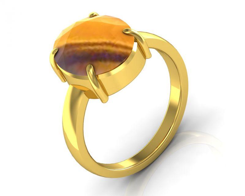 Buy Kiara Jewellery Certified Quartz 4.8 Cts Or 5.25 Ratti Quartz Ring online