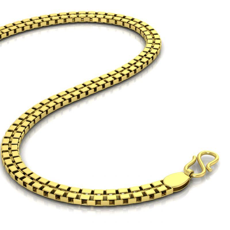 Buy Avsar 18k Gold 20 Inch Shiva Chain Online | Best Prices in ...