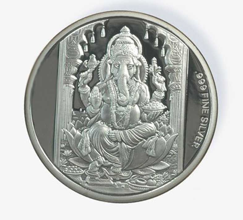 Buy 100 Gm Ag 999 Pure Silver Coin online