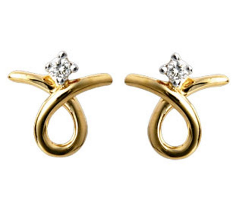 Buy Tarang Real Diamond Two Stone Earring online