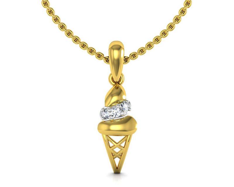 Buy Avsar Real Gold and Swarovski Stone Namrata Pendant online