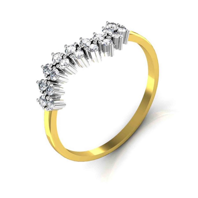 Buy Avsar Real Gold and Diamond Anjali Ring online