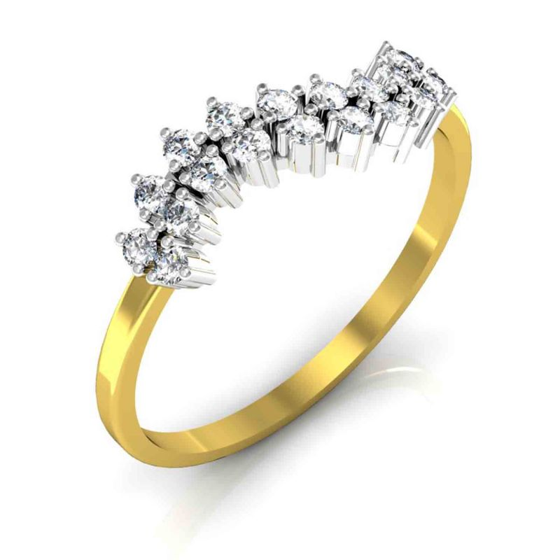Buy Avsar Real Gold and Diamond Anjali Ring Online Best Prices in