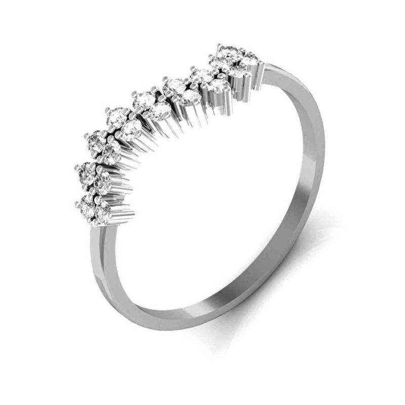 Buy Avsar Real Gold And Swarovski Stone Anjali Ring Tar029wb online