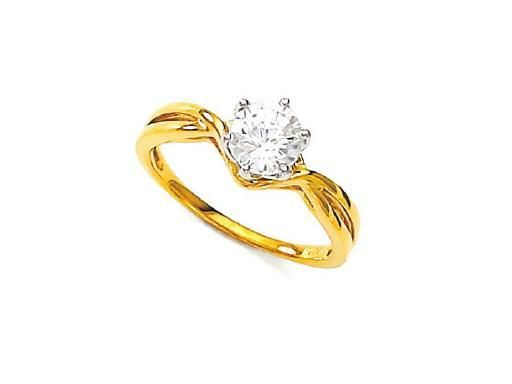 Buy Unique Real Gold And Diamond Solitaire Ring online