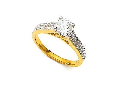 Buy Unique Real Gold And Diamond Brid Wedding Ring online