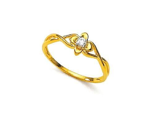 Buy Unique Real Gold And Diamond Fancy Ladies Ring Online Best