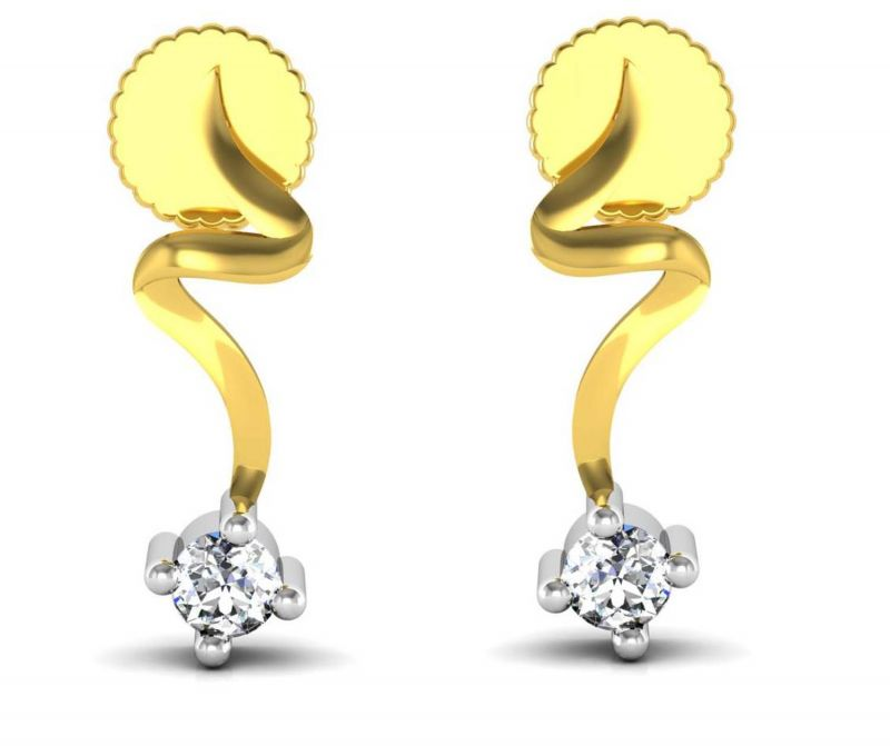 Buy Avsar Real Gold And Cubic Zirconia Stone Ranchi Earring( Code - Uqe007yb ) online