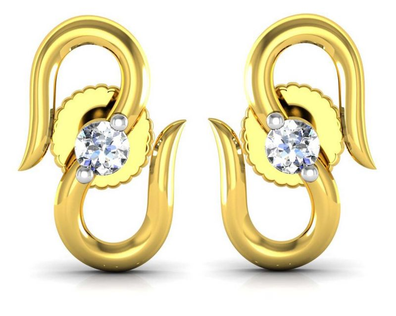 Buy Avsar Real Gold And Diamond Manali Earring Uqe016a online