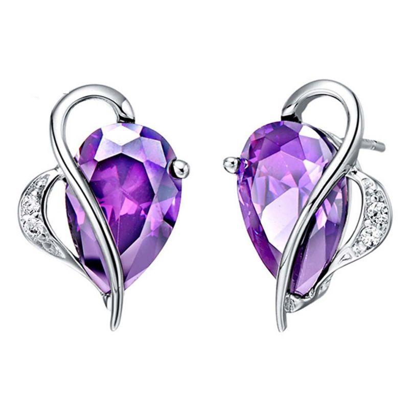Buy Kiara Swarovski Elements White Gold Plated Earring Vae020 online