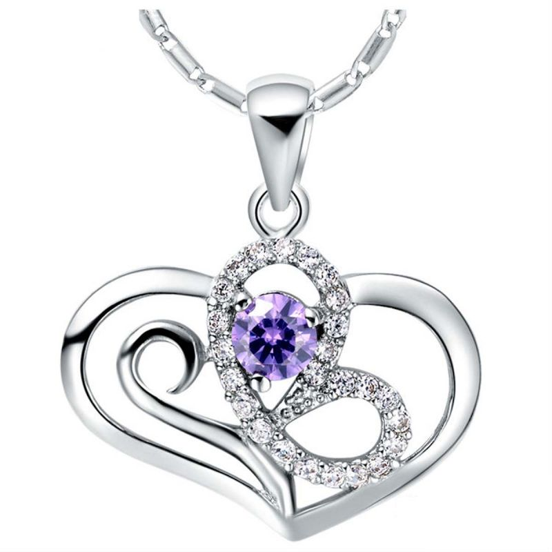 Buy Sterling Silver Pendant Made With Swarovski Zirconia Vap043 online