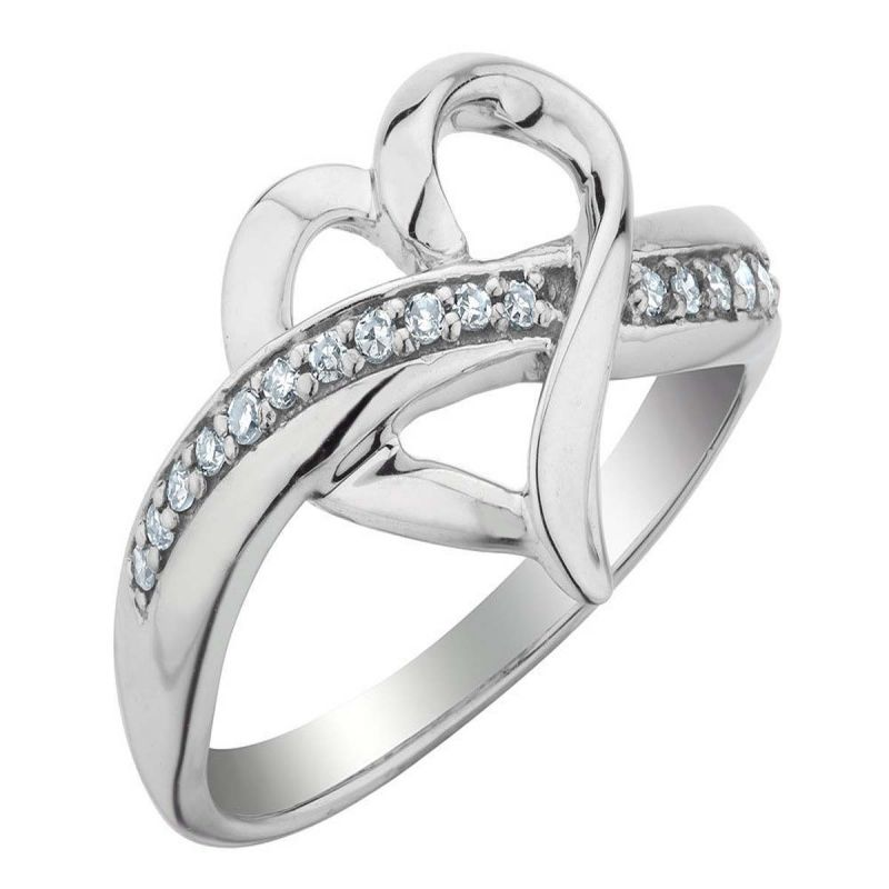 Buy Kiara Valentine Sterling Silver Ring made with Swarovski Zirconia online