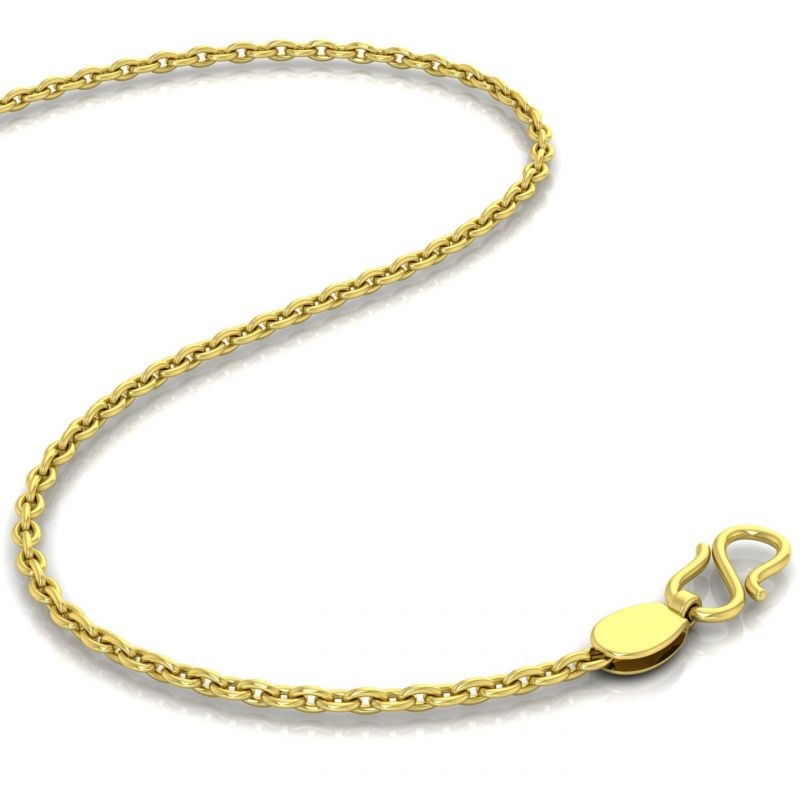 Buy Avsar 18k Gold 18 Inch Cable Chain online
