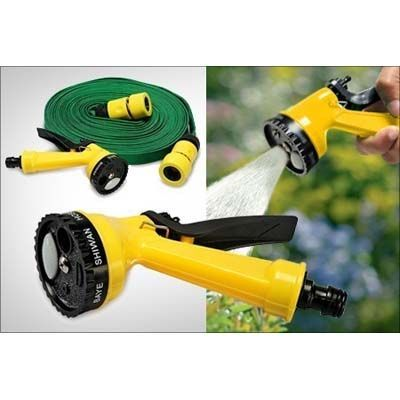 Buy Flomaster Mutipurpose Waterspray Gun For Cleaningbike/car/home & Gardening With Green Gun - 10 Meters - Product online