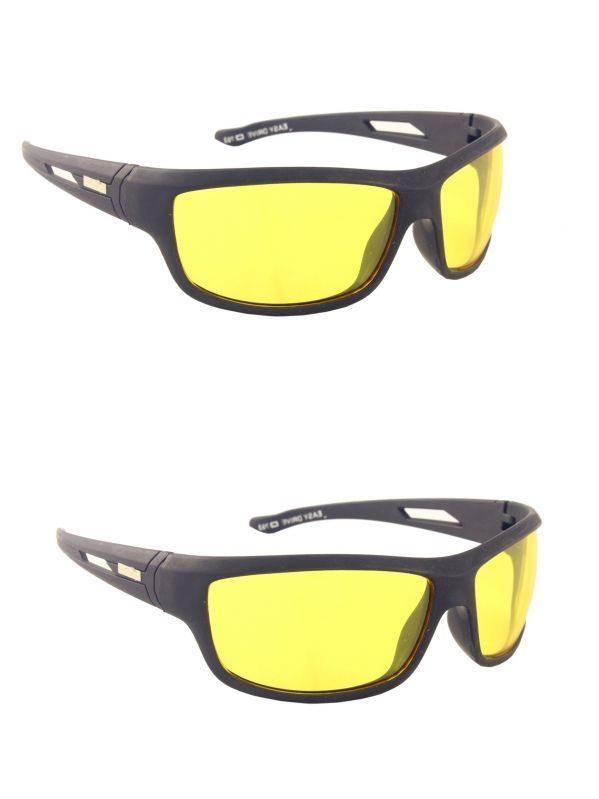 Buy Blue-tuff Night Driving Glare Night Vision Sunglass Combo Pack Of 2 online