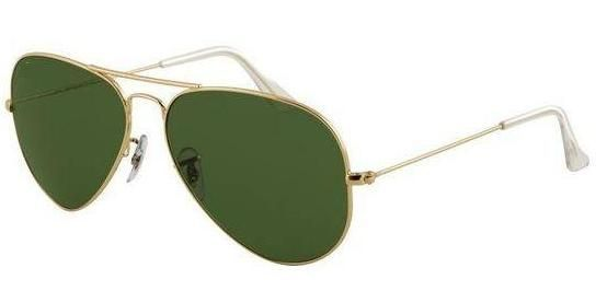 Buy Greenish Black Golden Frame Aviator Style Sunglasses With Hard Carry Case online