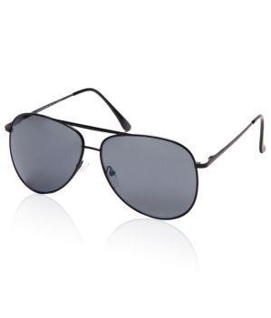Buy Beaufort Grey Black Lens Aviator Sunglasses online