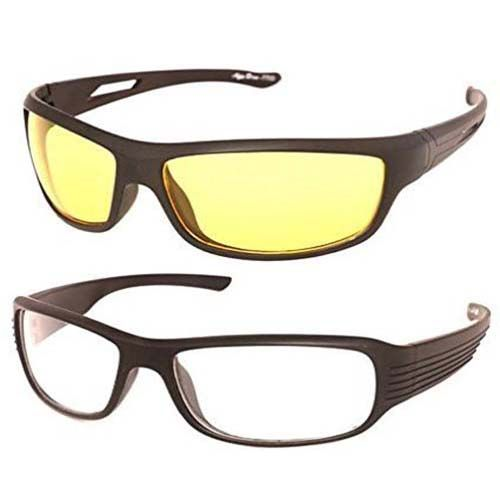Buy Night Vision Yellow And Clear Lens Sunglasses Driving Sunglass online