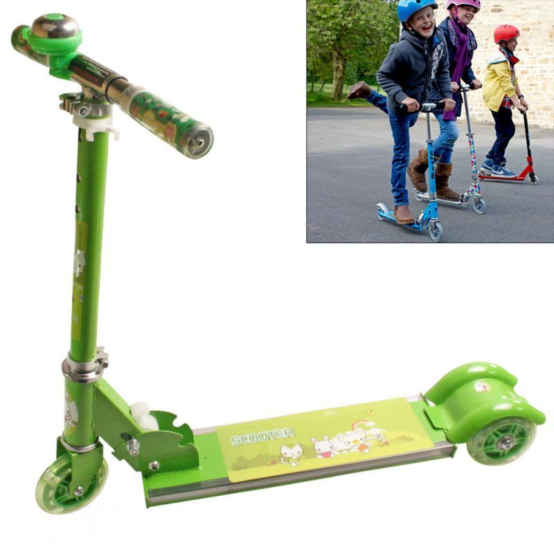 Buy 3 Wheeler Push Foldable Scooter Kick Board Kids Toys With Music & Light-n47 online