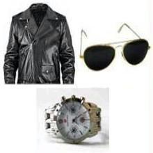 Buy Cimmaron Jacket + Sunglass + Mens Watch online