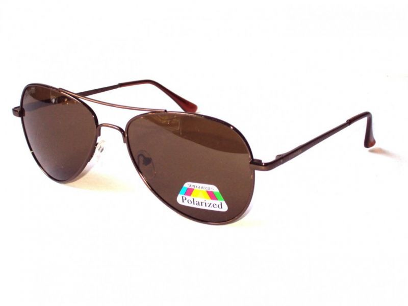Buy Sigma Brown Polarized Aviator Sunglasses With Case online
