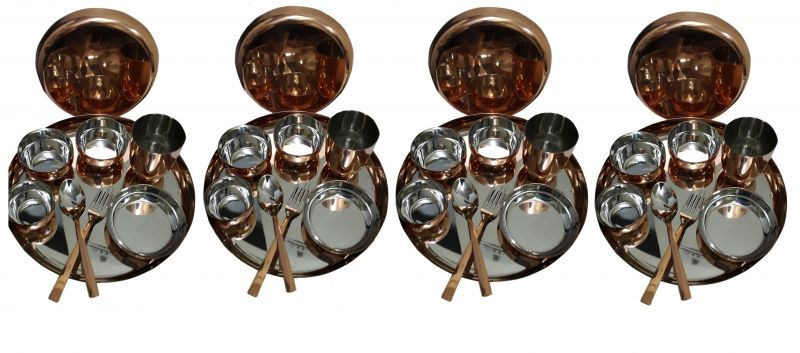 Buy 36 PCs Copper Dinner Set online