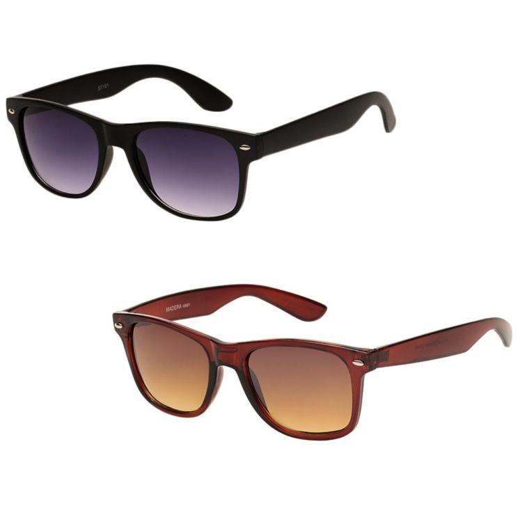 Buy Magjons Black & Brown Wayferer Sunglass Combo online