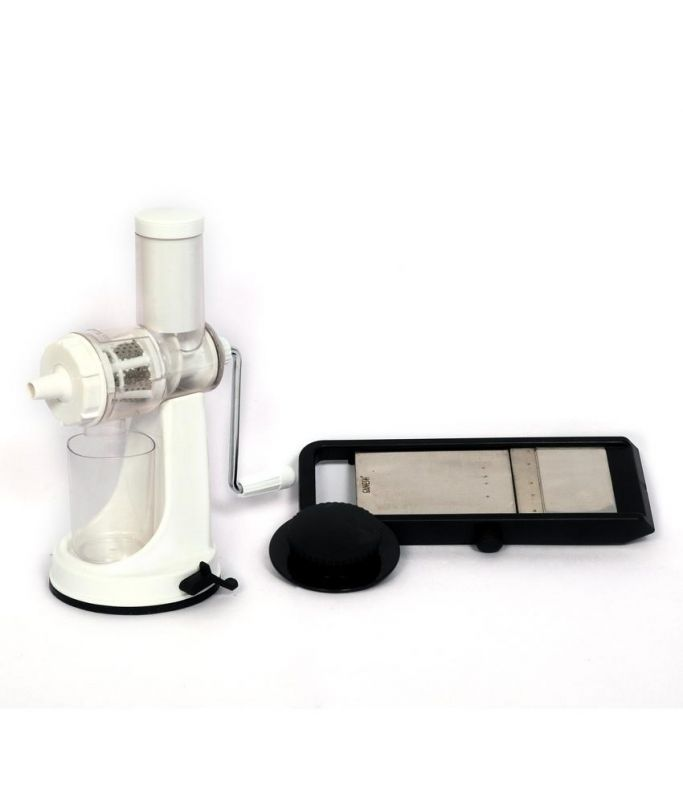 Buy Fancy Center White Stainless Steel Fruit And Vegetable Juicer With Free Vegetable Slicer online