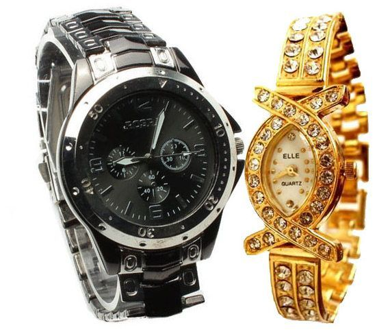 Buy Couple Wrist Watch Rosra Collection online