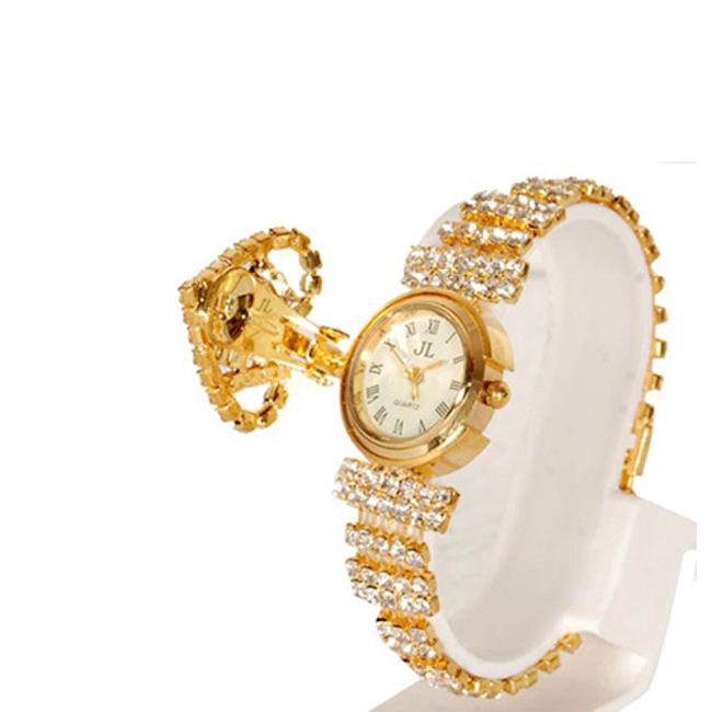Buy Golden Fancy Multi Color Stone Ladies Jewellry Watch online