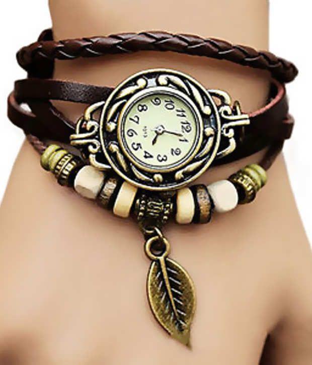 Buy Mf Eleganzza Beige Casual Analog Watch - Brown online