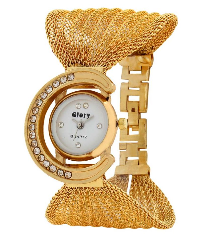 Buy Glory Golden Fancy Jaal Ladies Watch online
