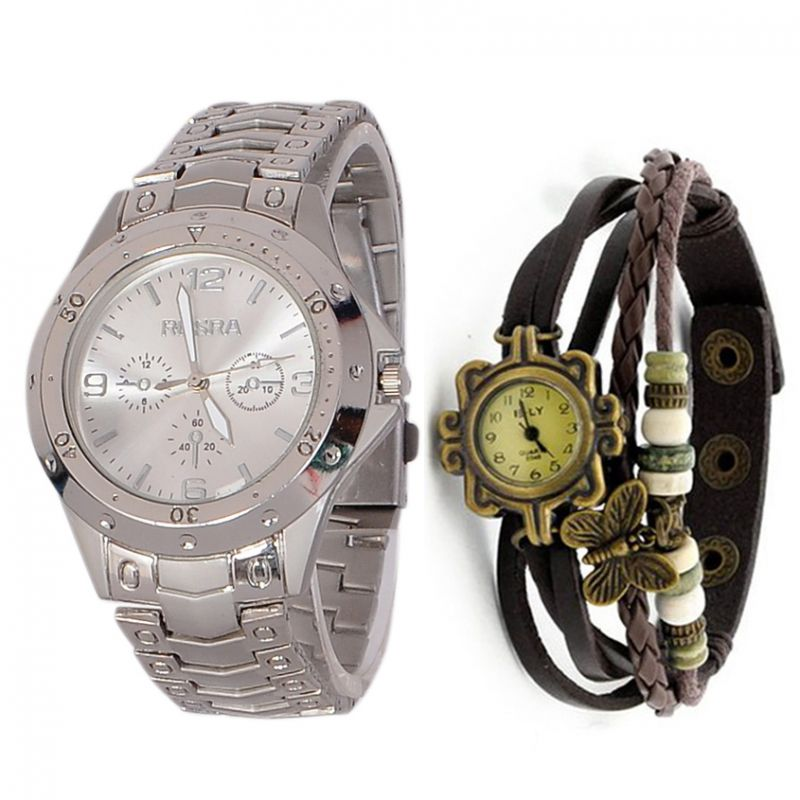 Buy Couple Wrist Watch  Buy 1 Get 1 Free online
