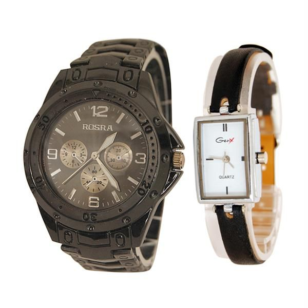 Buy Rosra Men's Watch With Free Genx Women's Watch online