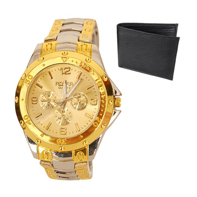 Buy New Stylish Wrist Watch For Men Free Wallet online
