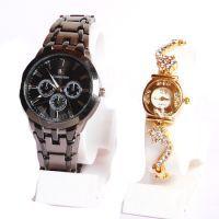 Buy Ik Collection & Elle Golden Wrist Watch Set For Couple 174 online