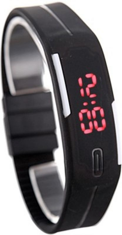 Buy DSC Black Digital Rectangle Sports Watch For Men online