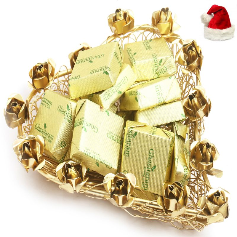 Buy Christmas Gifts Chocolates Hampers-mesh Heart Chocolate Tray online