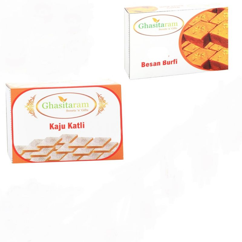 Buy Mithai Hampers - Kaju Katli And Besan Barfi online