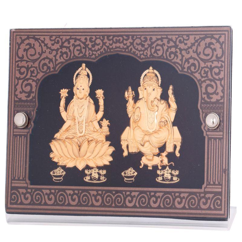 Buy Ghasitaram Gifts Lmgf19 24 Kt Pure Gold Leaf Laxmi Ganesha In Frame online